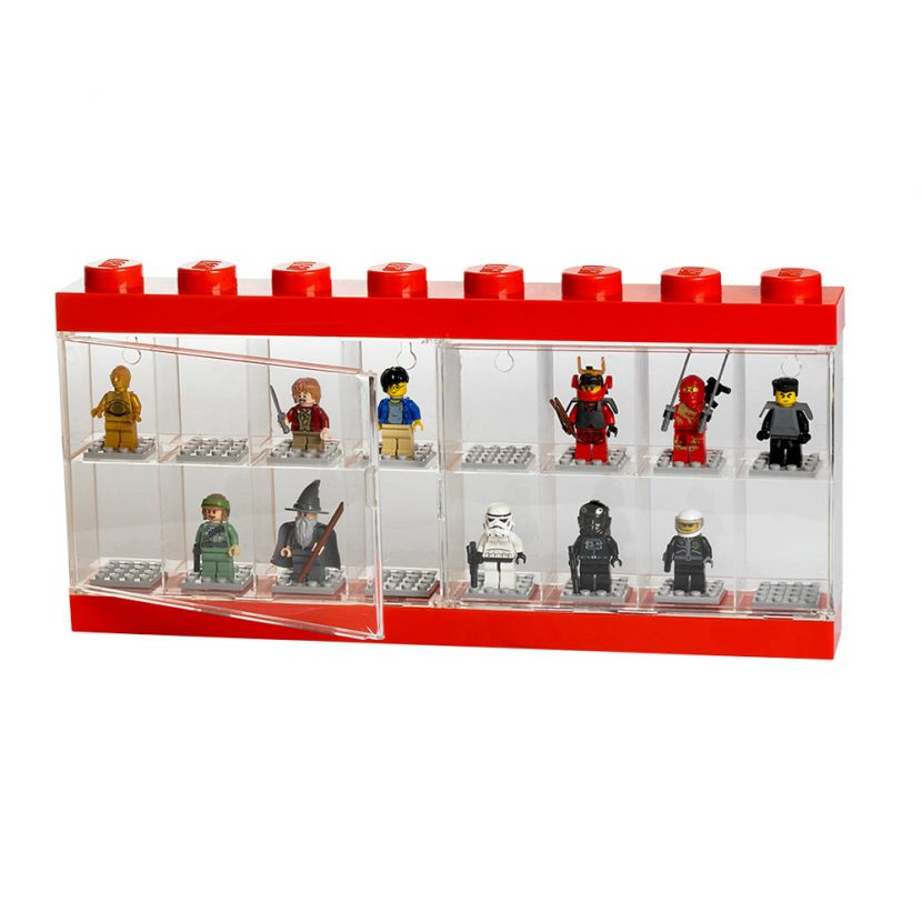 LEGO izložbena polica za 16 minifigura: Crvena
