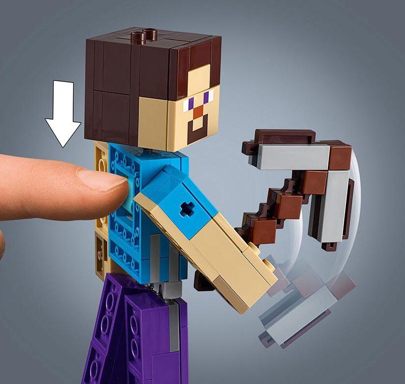 21148 Velika figura Minecraft™ Stiva sa papagajem