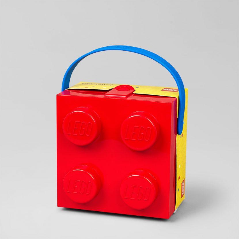 LEGO kutija za užinu sa ručkom: Crvena