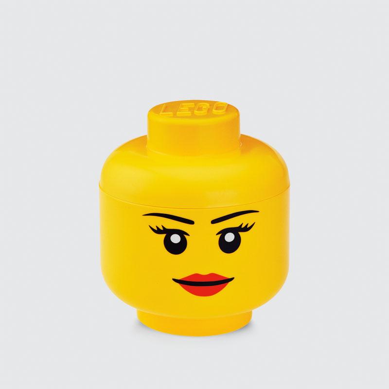 LEGO glava za odlaganje (mala): Devojčica