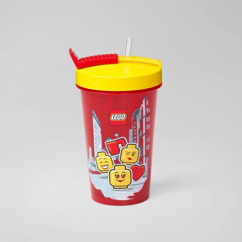 LEGO čaša sa poklopcem i slamkom: Devojčica