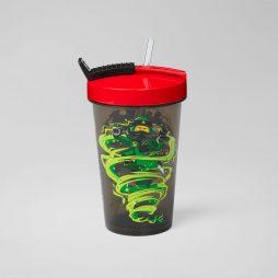 LEGO čaša sa poklopcem i slamkom: Ninjago