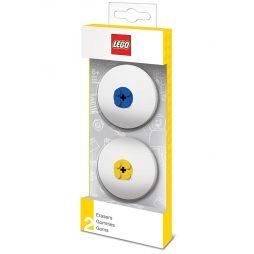 LEGO gumice za brisanje: Plava i žuta